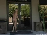 Alison Angel gets naughty in public