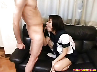 her first blow job