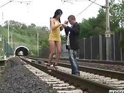 fucking the railway track