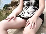 Blonde on the rocks