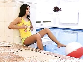 masturbating the pool