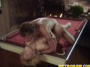 fucking the pool table