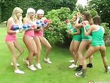 Lesbian garden fun