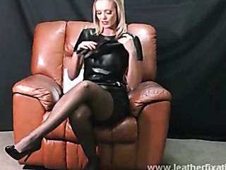lucy leather dress