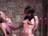 She gets flogged and spanked