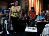 Crazy bar party with fat sluts fucking