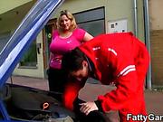 mechanic fucks the fat
