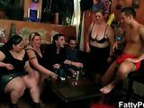 Spit roasted fat slut has great fun