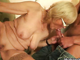 Young man fucks a mature in stockings