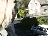 Chubby mature wants cock outside