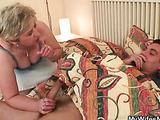 Wakeup blowjob and mature sex