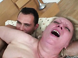 Lusty granny pussy fucked