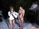 Blow job in the snow