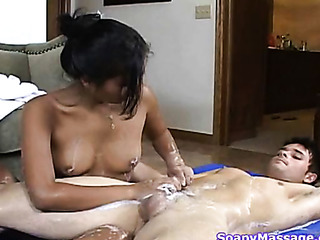 asian masseuse gives