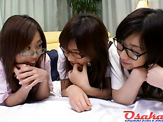 three horny school girls