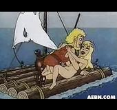 Greeks cartoon gods