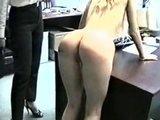 Blonde gets spanked