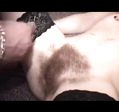 One hairy pussy