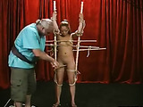 Bamboo sticks on a hot Asian slave