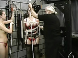 Big natural tits are tortured and abused