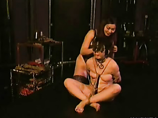 hogtied masked slave gets
