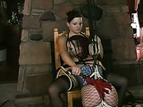 Two slaves are tied up together tightly
