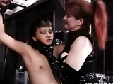 Asian's tits and nipples in tight clamps
