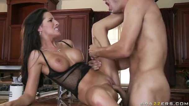 Precisely blonde milf fucks workman