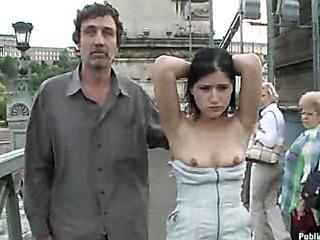naked chick fucked public