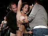 Whore fucked in a bar