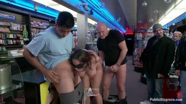 Public fucking in a sex shop - Porn Video at XXX Dessert Tube