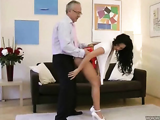 brunette getting fucked