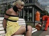 Bondage sex in public transport