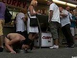 BDSM sex in the street