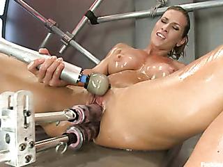 hot pissing fucking machine