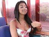 Sexy latina fucks in doggy style