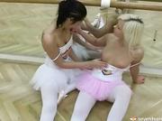 teen lesbian balerinas toying
