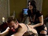 Slave drinks his own sperm