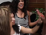 Three clothed teens and two nude males video