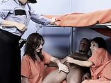 Female prisoners and naked prisoner guard video