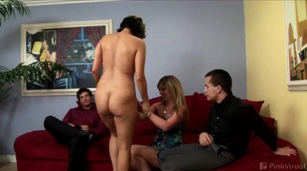 Naked at party wife got
