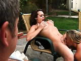 Hot housewives licking pussies outdoor