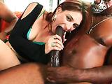 Babe plays big black cock movie