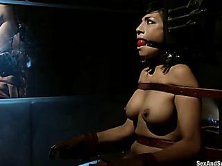threesome bondage video