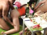 Dildo in a drunk girl's snatch