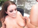 Office slut sucking cock
