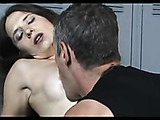 Mom squirting into man's mouth