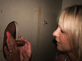 Blonde mature and a glory hole