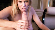 blonde mom with huge