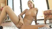 blonde rubbing her lustful